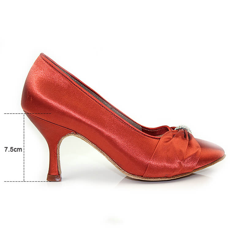 red ballroom shoes