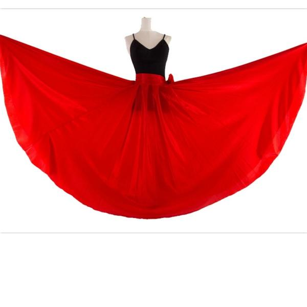 red contemporary skirt