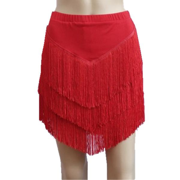 red latin skirt