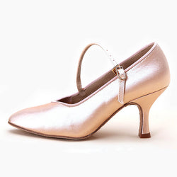 satin ballroom shoes