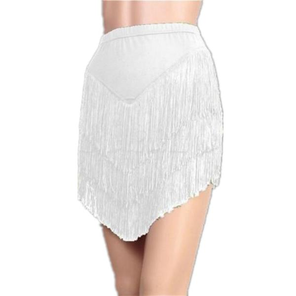 white latin skirt
