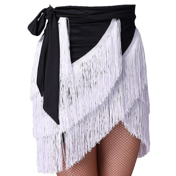 black white latin skirt