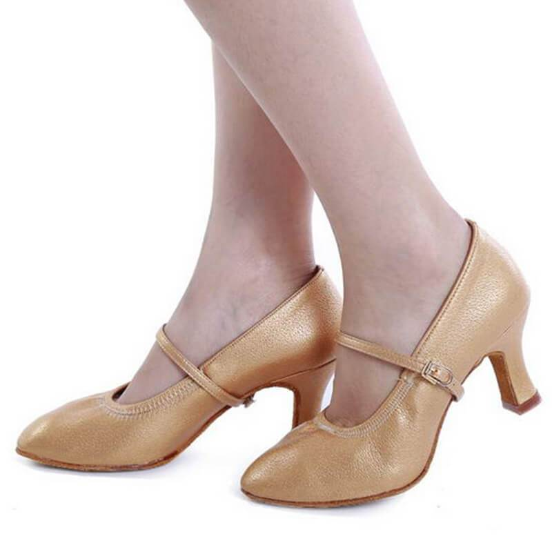 "Classic Ballroom Dance Shoes 2.1""-ivory"