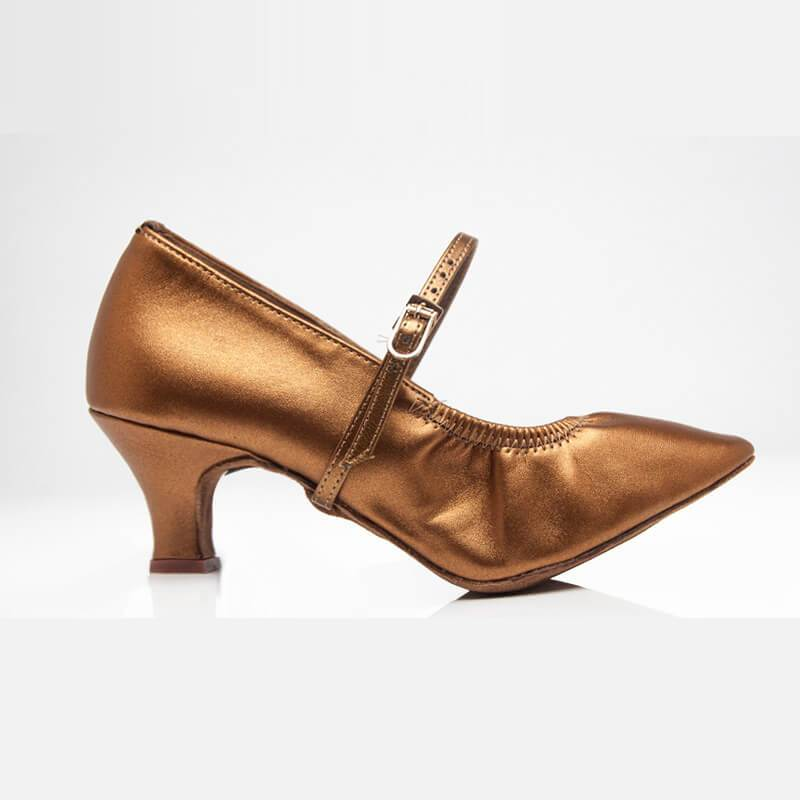 women bronze ballroom shoes
