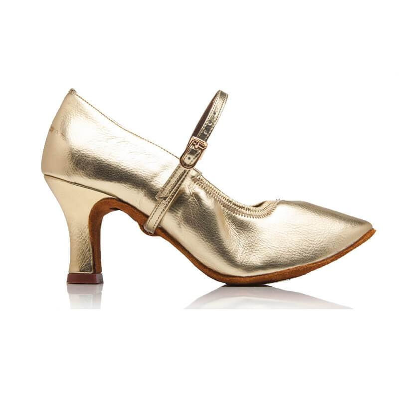 women gold ballroom shoes