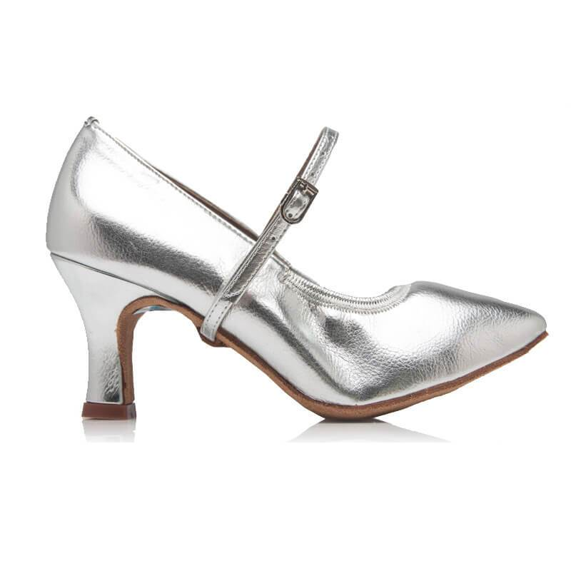 women silver ballroom shoes