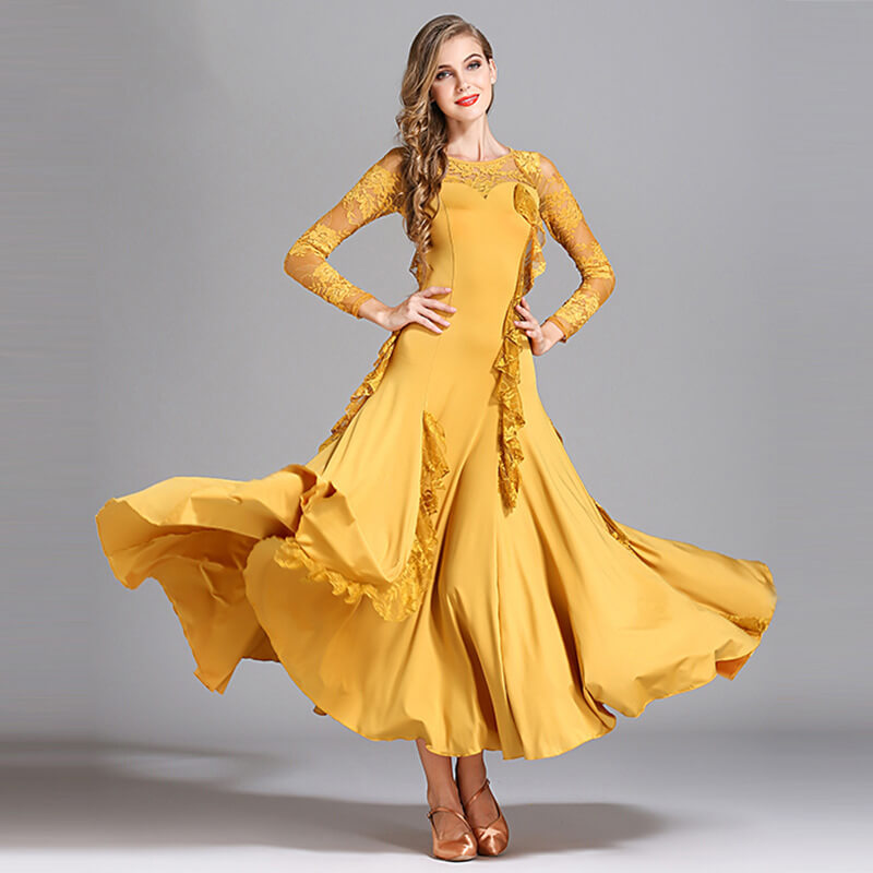 yellow ballroom dress 1