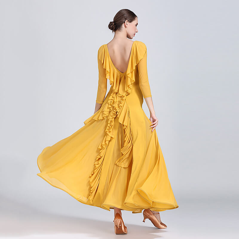 yellow ballroom dress 3
