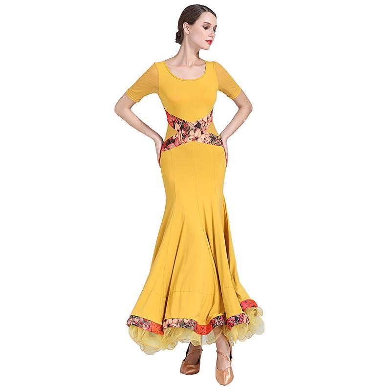 yellow ballroom dress