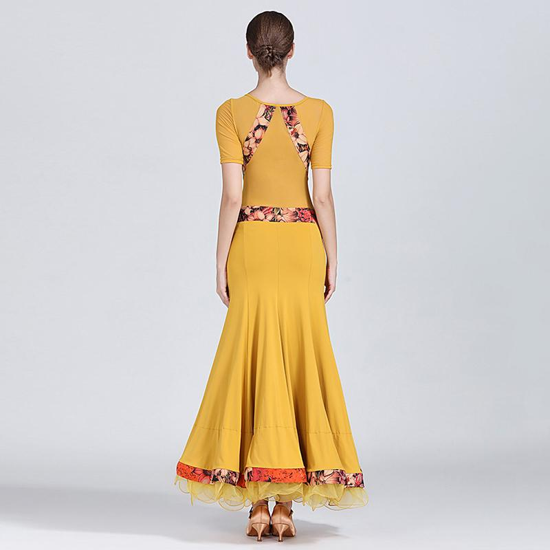 yellow ballroom dress back