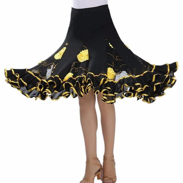 yellow ballroom skirt
