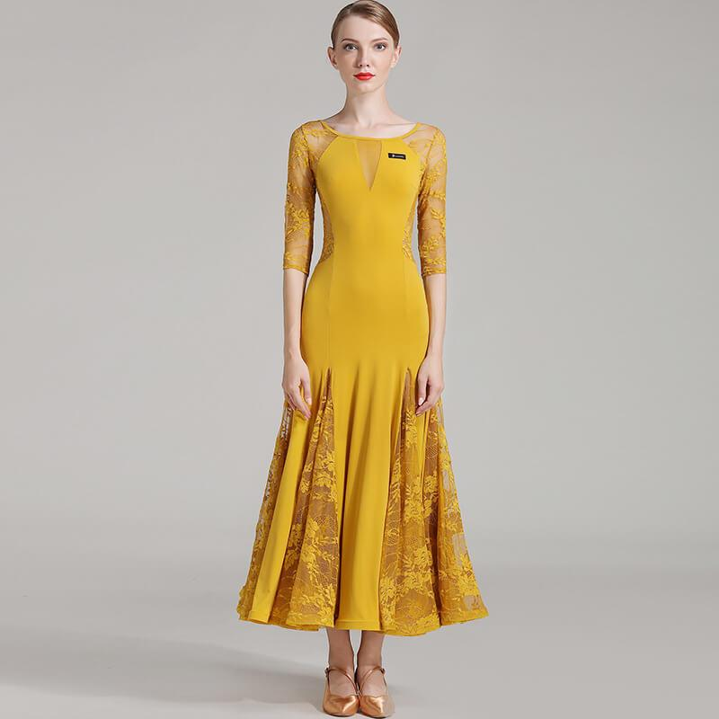 yellow ballroomdance dress 1