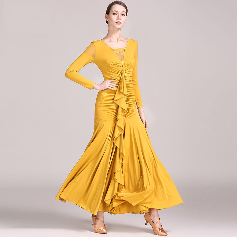 yellow dance dress