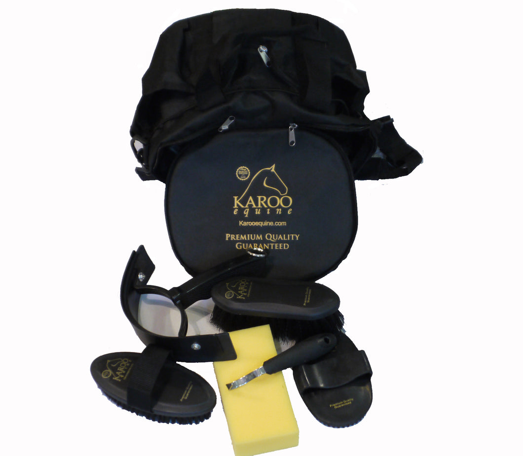 Horse Grooming Set Soft Touch 6 piece set including premium bag