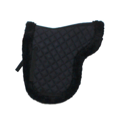 Synthetic Sheepskin Show Numnah Pad - BLACK