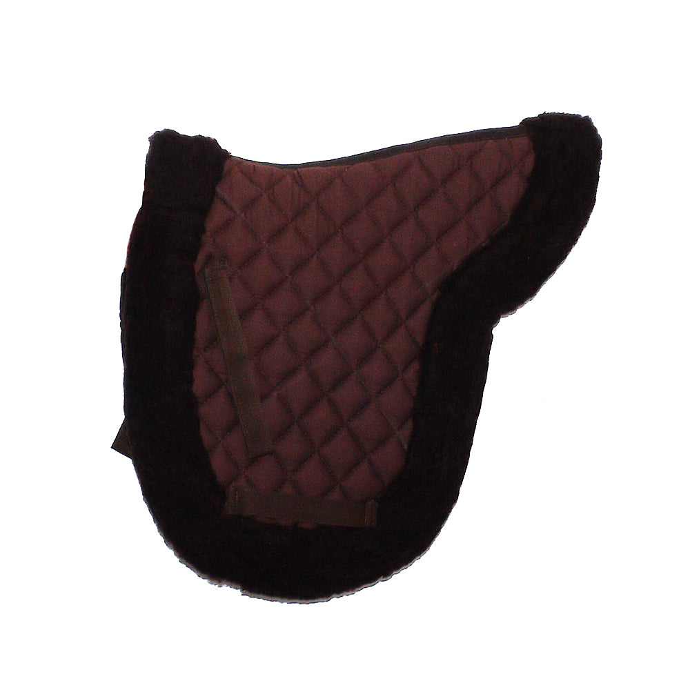 Synthetic Sheepskin Show Numnah Pad - BROWN