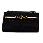Elegance Stock Pin Gold Plated - Jade Black