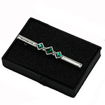 Elegance Stock Pin Emerald