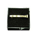 Farrier Nail Stock Pin - Gold Plated with diamontee crystals