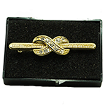 Infinity Stock Pin - Gold Plated with diamontee crystals