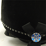 Saphire centre Swarovski Diamante Elastic Hat Band
