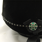 Emerald centre Swarovski Diamante Elastic Hat Band
