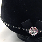 Kunzite centre Swarovski Diamante Elastic Hat Band