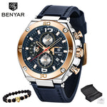 MONTRE Dark Navy  noir or