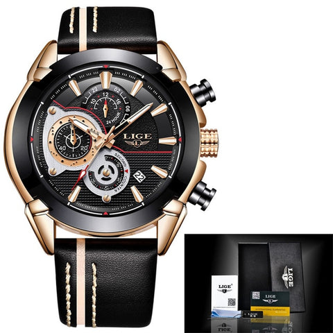 Montre Lige Homme Chrono Quartz - AVAE SHOP