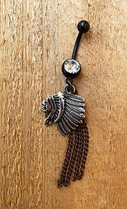 """Indian Outlaw"" Belly Button Ring"