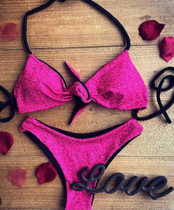 """Love Story"" Glitter Swimsuit"