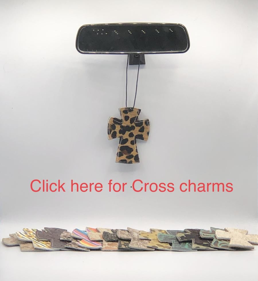 Cross Car Charm & Scented Oil (Combo Pack)