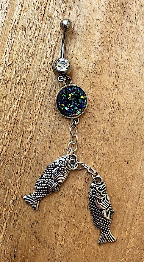 """Bait a Hook"" Belly Button Ring"