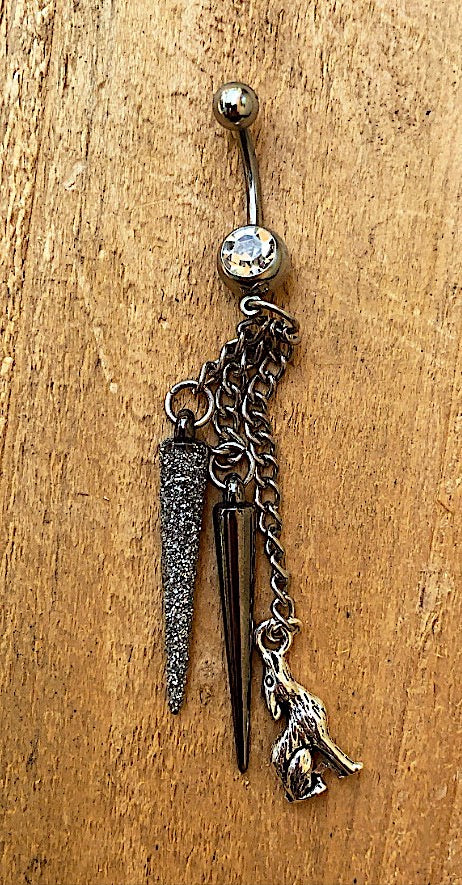 """Lone Wolf"" Belly Button Ring"