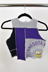 Upcycled Minnesota Vikings Scrappy Top