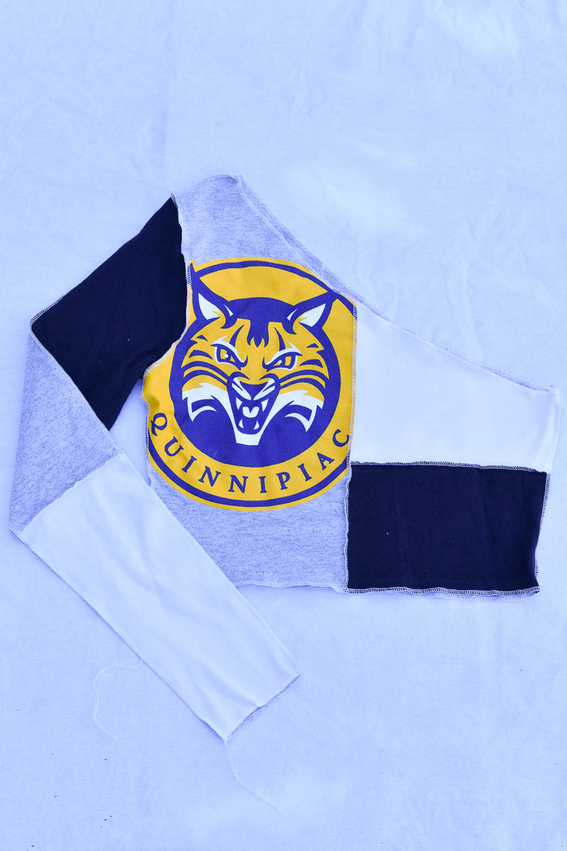 Upcycled UPenn Denim Halter Top