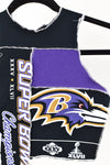 Upcycled Baltimore Ravens Scrappy Top