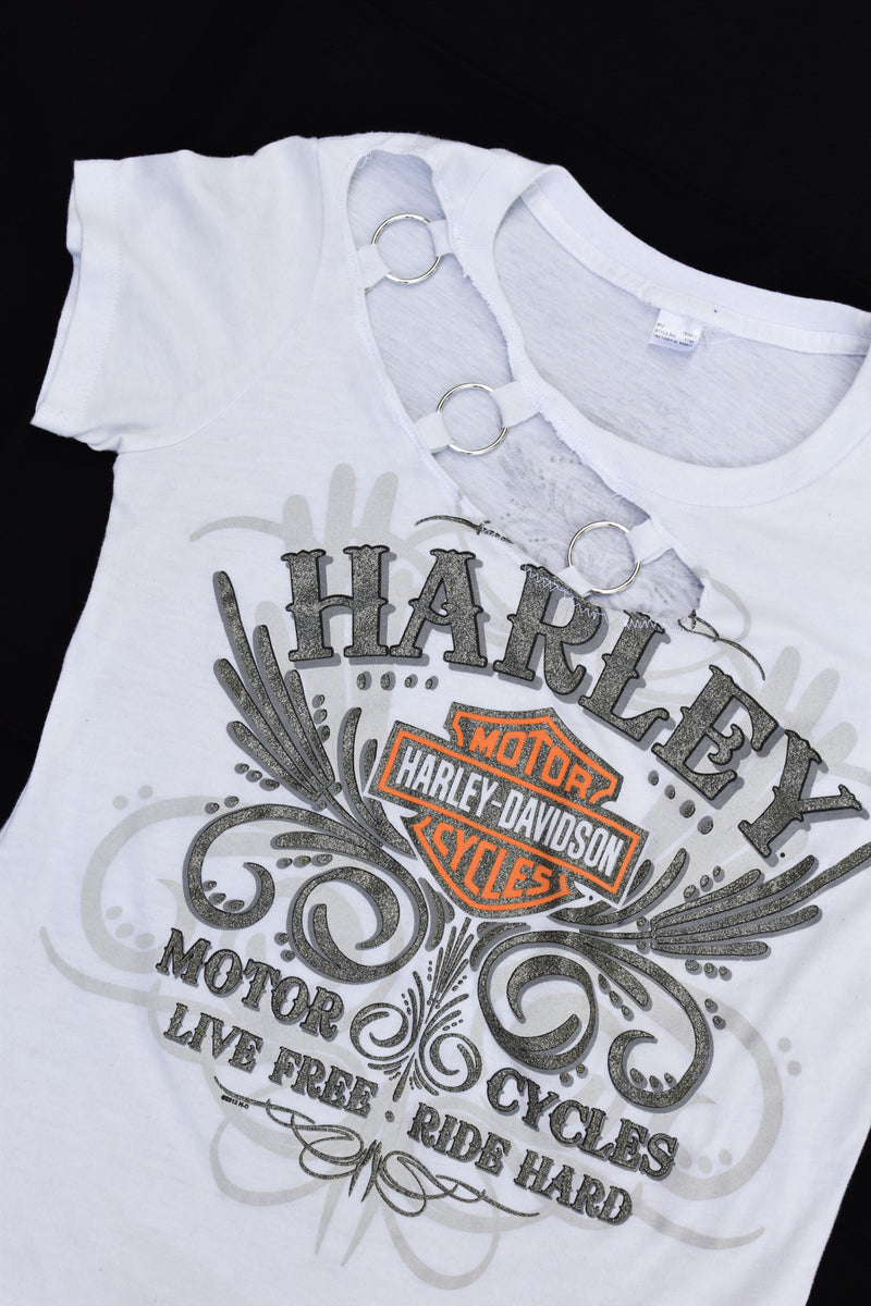 Upcycled Harley Davidson Ring Shirt
