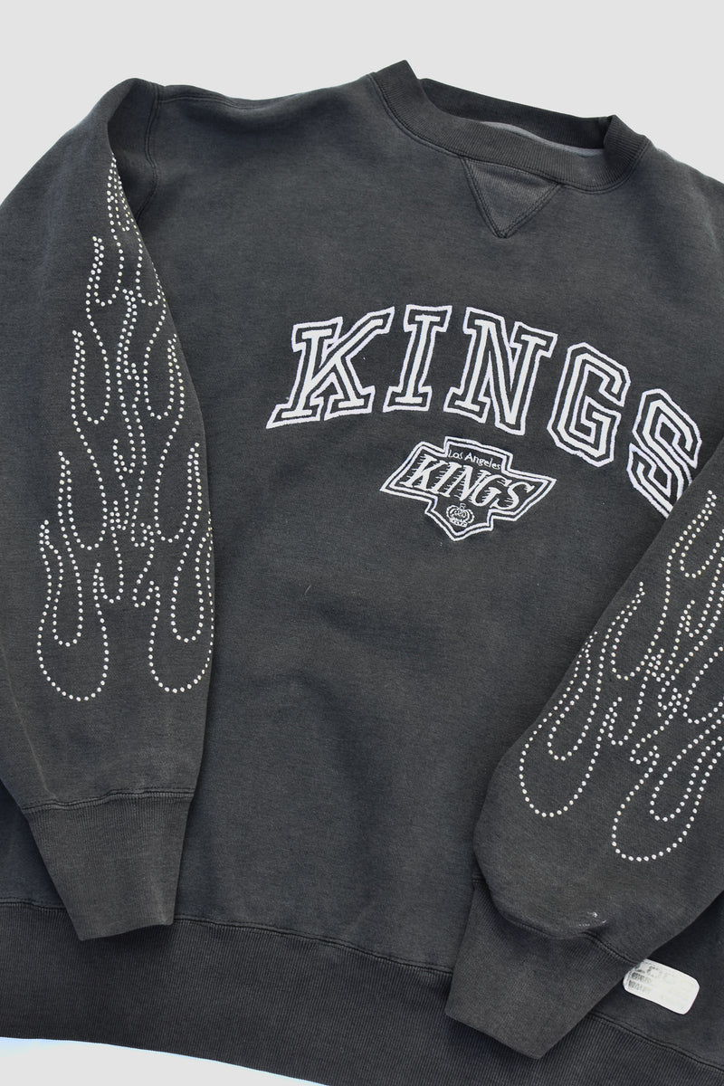 Upcycled LSU Denim Halter Top