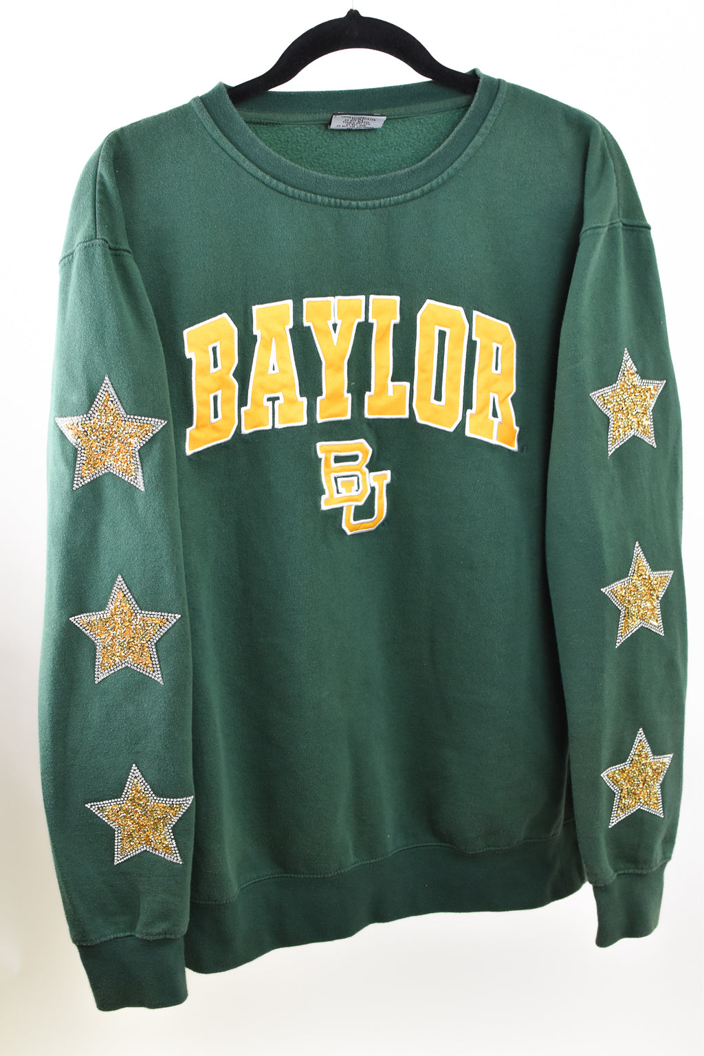 Upcycled VINTAGE Baylor University Star Rhinestone Sweatshirt
