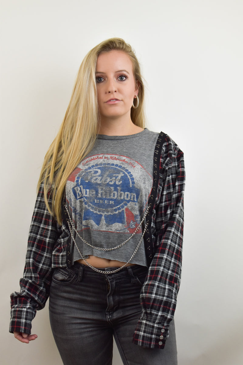 Upcycled Pabst Chain Rock Top
