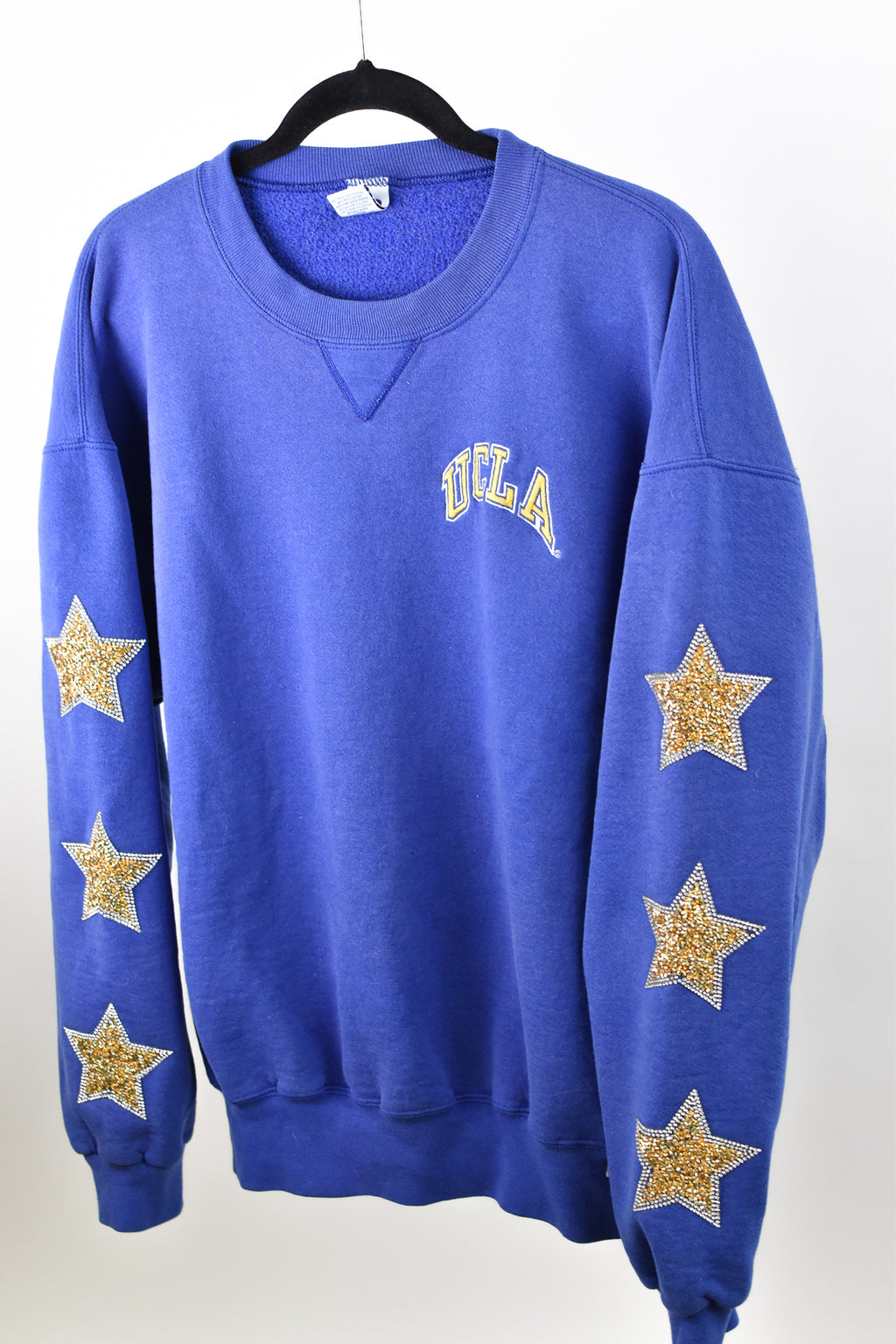 Upcycled UCLA Star Rhinestone Sweatshirt