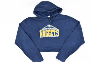 Upcycled VINTAGE Denver Nuggets Cropped Sweatshirt