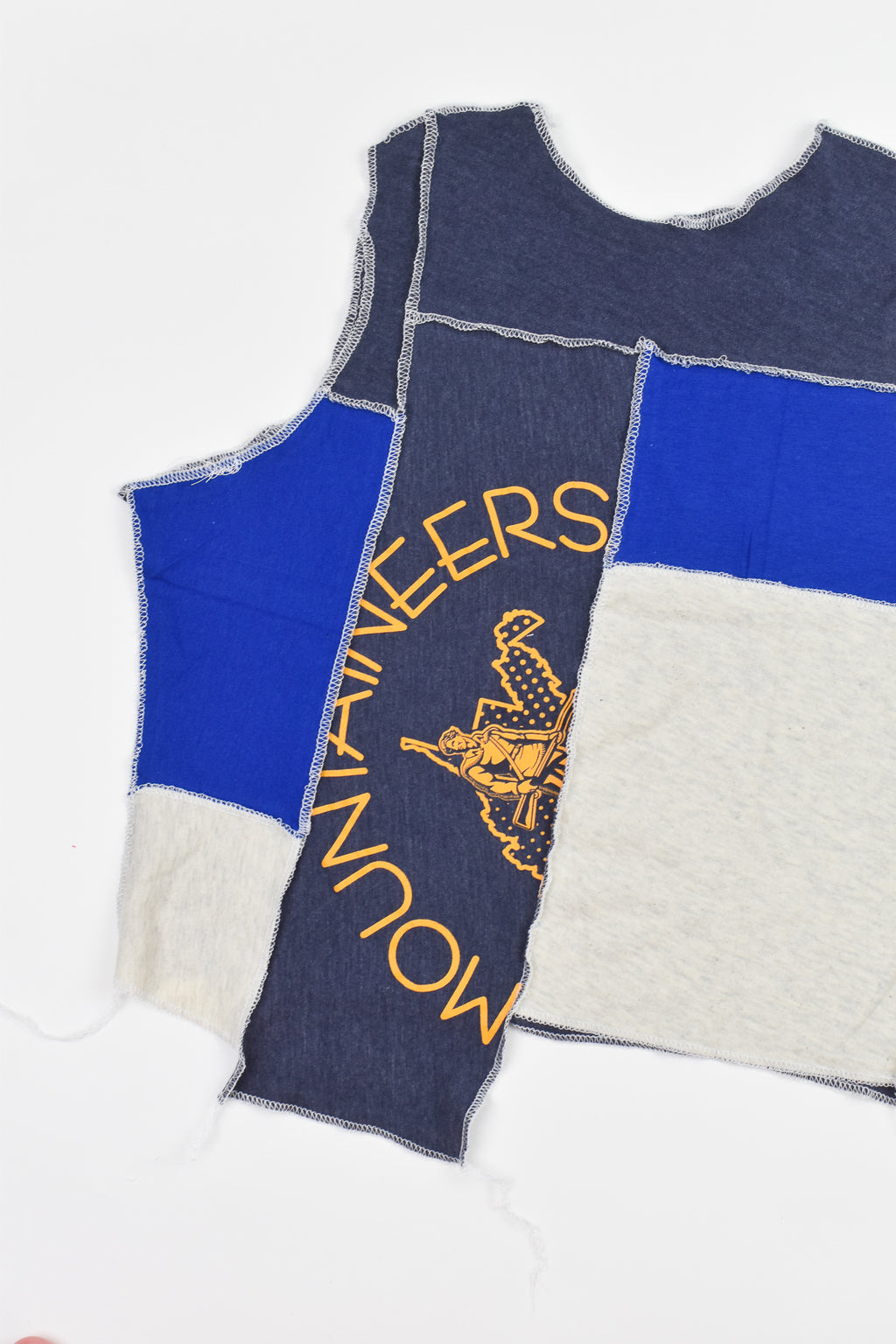 Upcycled Wisconsin Drawstring Crop Top