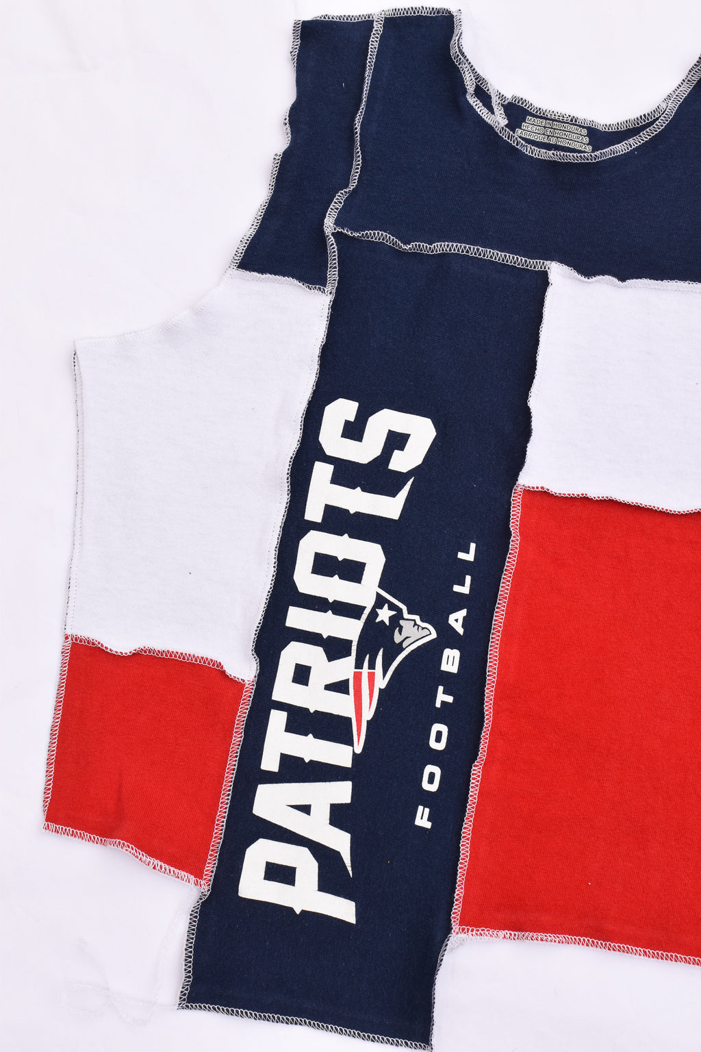 Upcycled Texas A&M Cropped Rhinestone Chain Shirt