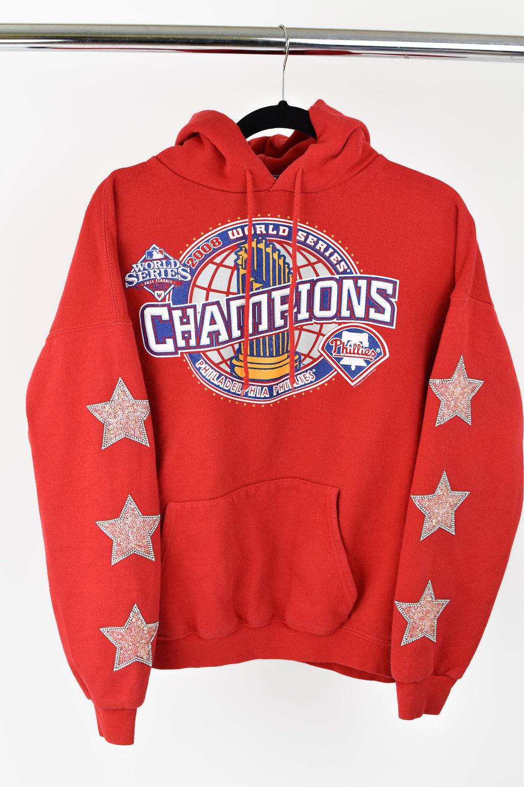 Upcycled Philadelphia Phillies Star Rhinestone Sweatshirt