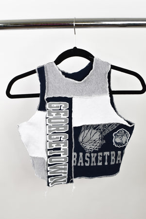 Upcycled Georgetown University Scrappy Top