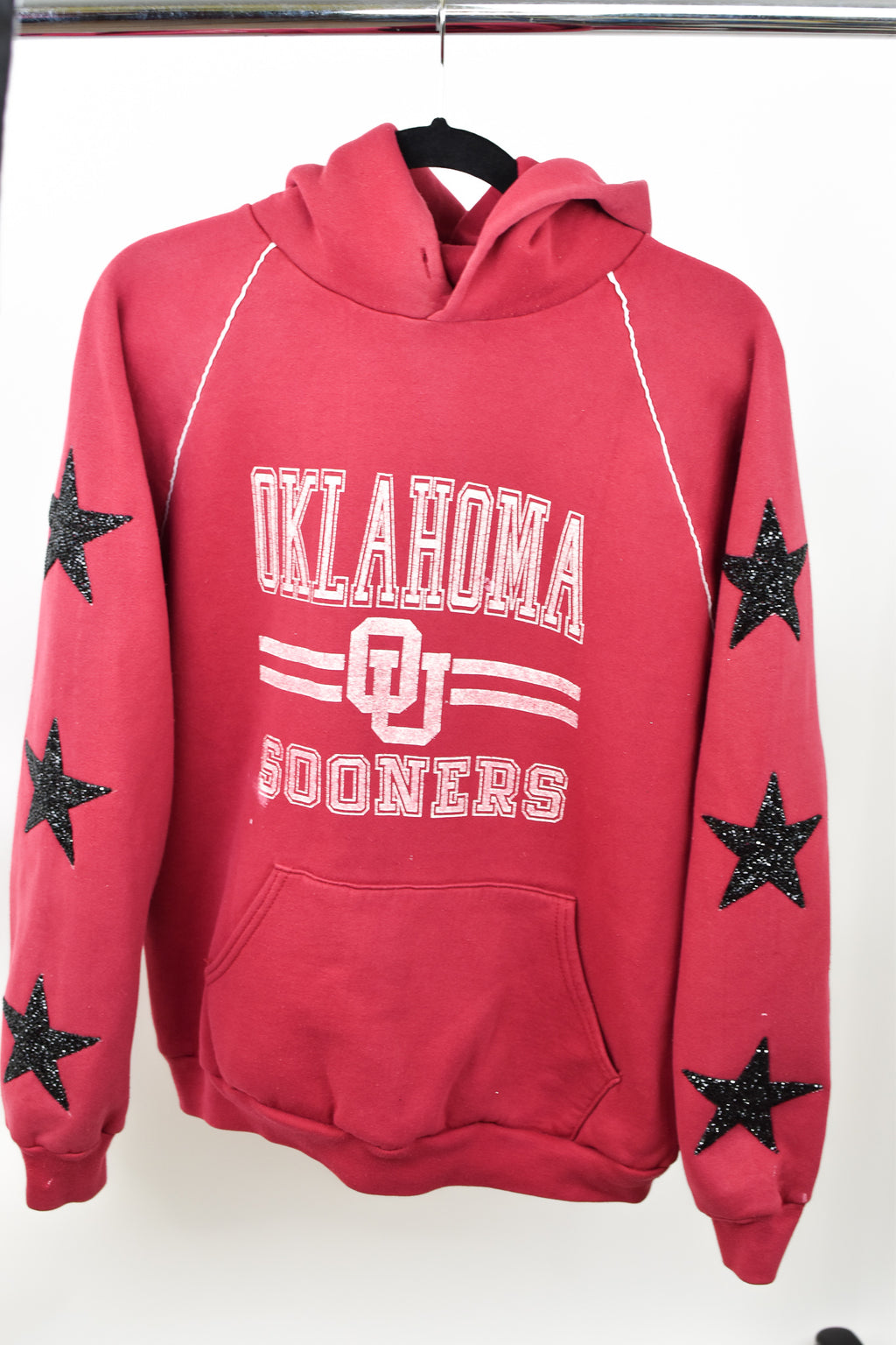 Upcycled VINTAGE University of Oklahoma Star Rhinestone Sweatshirt