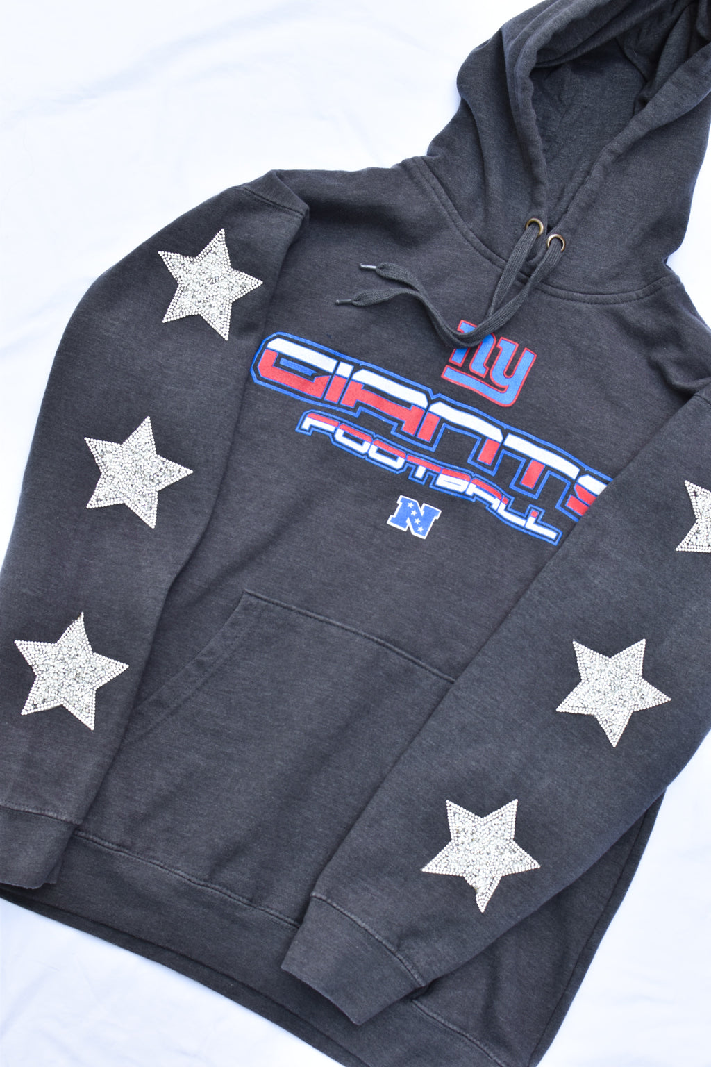 Upcycled Giants Star Rhinestone Sweatshirt
