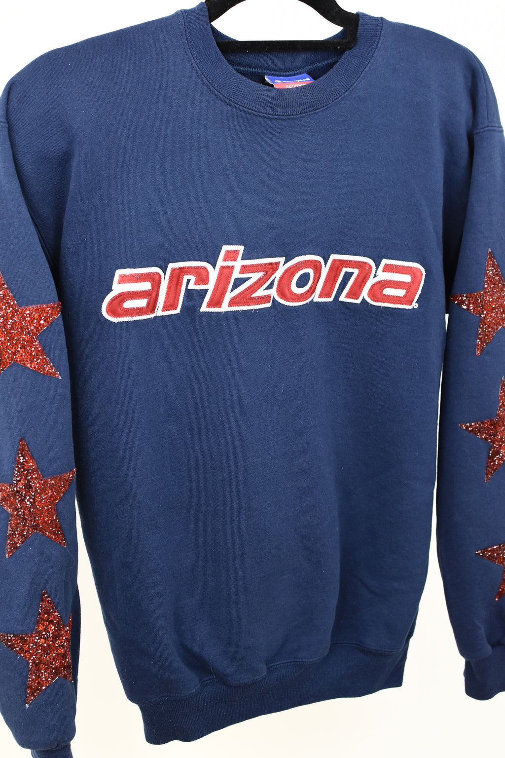 Upcycled VINTAGE University of Arizona Star Rhinestone Sweatshirt